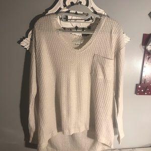cream american eagle thin sweater top